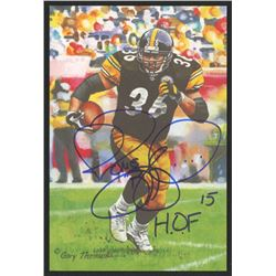 Jerome Bettis Signed 2015 LE Pittsburgh Steelers 4x6 Pro Football Hall of Fame Art Collection Card I