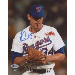 Nolan Ryan Signed Texas Rangers 8x10 Photo (Beckett COA  Ryan Hologram)