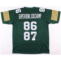 "Robert Brooks Signed Green Bay Packers ""Super Bowl XXXI Champ"" Jersey (JSA COA)"