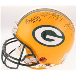 Green Bay Packers Full-Size Authentic Helmet Signed By (5) with Paul Hornung, Aaron Rodgers, Charles