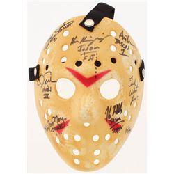 "Jason ""Friday the 13th"" Hockey Mask Signed By (7) with Kane Hodder, Tom Morga, Ted White, Ari Lehman"