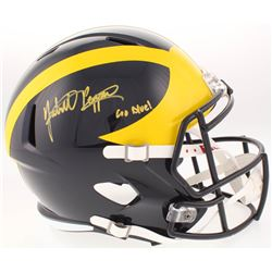 """Jabrill Peppers Signed Michigan Wolverines Full-Size Speed Helmet Inscribed """"Go Blue!"""" (JSA COA)"""
