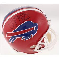 """Jim Kelly Signed Buffalo Bills Full-Size Helmet Inscribed """"HOF 02"""" (Steiner COA)"""