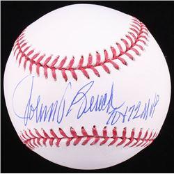 """Johnny Bench Signed OML Baseball Inscribed """"70  72 MVP"""" (JSA COA)"""