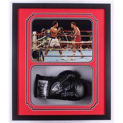 George Foreman Signed 22x26x5 Custom Framed Everlast Boxing Glove Shadowbox Display (Foreman COA)