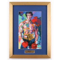 "LeRoy Neiman ""Rocky"" 14x19 Custom Framed Print Display"