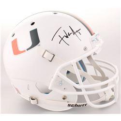Frank Gore Signed Miami Hurricanes Full-Size Helmet (Radtke COA)
