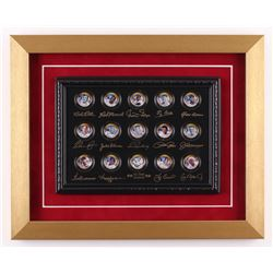 """Merrick Mint """"All-Time Legends"""" 13x16 Custom Framed Commemorative 24k Gold Coin Set Display with Bab"""