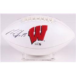 Melvin Gordon Signed Wisconsin Badgers Logo Football (Radtke COA)