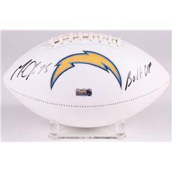 "Melvin Gordon Signed Los Angeles Chargers Logo Football Inscribed ""Bolt Up"" (Radtke COA)"