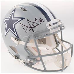 Dak Prescott  Ezekiel Elliott Signed Cowboys Full-Size Authentic On-Field Speed Helmet (Beckett COA)