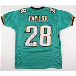 "Fred Taylor Signed Jacksonville Jaguars Jersey Inscribed ""11,695 Rush Yds"" (Beckett COA)"