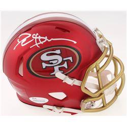 Deion Sanders Signed San Francisco 49ers Blaze Speed Mini Helmet (JSA COA)
