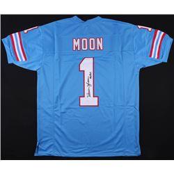 "Warren Moon Signed Houston Oilers Jersey Inscribed ""HOF 06"" (JSA COA)"