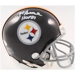 "Joe Greene Signed Pittsburgh Steelers Mini-Helmet Inscribed ""HOF 87"" (JSA COA)"
