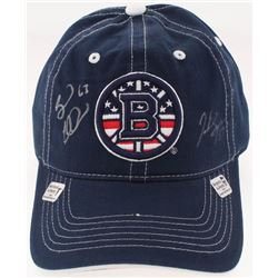 Brad Marchand  Patrice Bergeron Signed Boston Bruins Adjustable Hat (Your Sports Memorabilia Store C