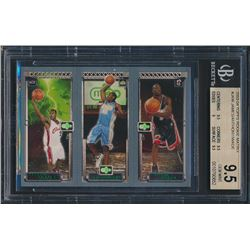 2003-04 Topps Rookie Matrix #JAW LeBron James 111 RC/Carmelo Anthony 113 RC/Dwyane Wade 115 RC (BGS