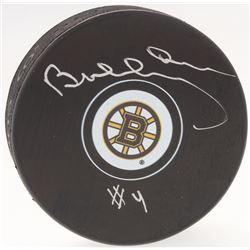 Bobby Orr Bruins Signed Official NHL Bruins Logo Puck (Orr COA)