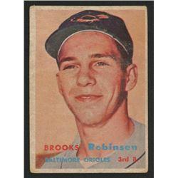 1957 Topps #328 Brooks Robinson RC