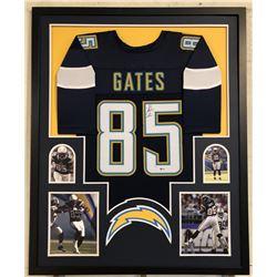 Antonio Gates Signed Los Angeles Chargers 34x42 Custom Framed Jersey (Beckett COA)