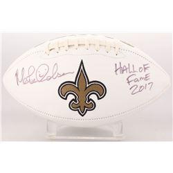 "Morten Andersen Signed New Orleans Saints Logo Football Inscribed ""Hall of Fame 2017"" (Radtke COA)"