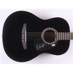 """Kris Kristofferson Signed 38"""" Rogue Acoustic Guitar (PSA COA)"""