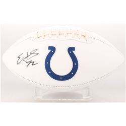 Edgerrin James Signed Indianapolis Colts Logo Football (Radtke COA)