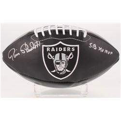 "Jim Plunkett Signed Oakland Raiders Logo Football Inscribed ""SB XV MVP"" (Radtke COA)"
