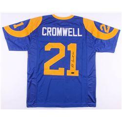 Nolan Cromwell Signed Los Angeles Rams Throwback Jersey (Radtke COA)