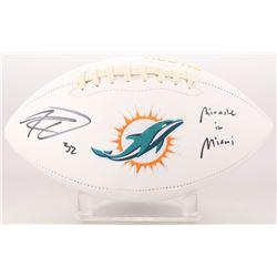 "Kenyan Drake Signed Miami Dolphins Logo Football Inscribed ""Miracle in Miami"" (Radtke COA)"