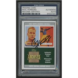 Paul Hornung Signed 2001 Topps Archives Relic Seats #ASPH (PSA Encapsulated)