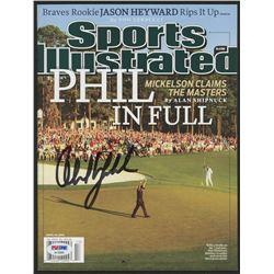 Phil Mickelson Signed 2010 Sports Illustrated Magazine (PSA Hologram)