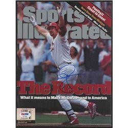 Mark McGwire Signed 1998 Sports Illustrated Magazine (PSA Hologram)