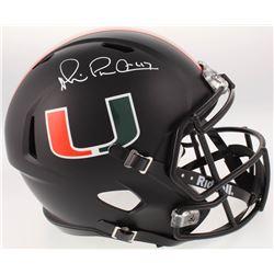Michael Irvin Signed Miami Hurricanes Full-Size Speed Helmet (Beckett COA)