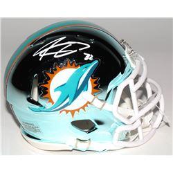Kenyon Drake Signed Miami Dolphins Chrome Mini Speed Helmet (Radtke COA)