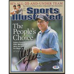 Phil Mickelson Signed 2005 Sports Illustrated Magazine (PSA Hologram)