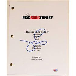 "Jim Parsons Signed ""The Big Bang Theory"" Pilot Script (PSA COA)"