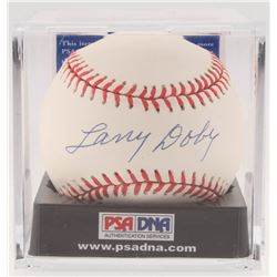 Larry Doby Signed OAL Baseball (PSA COA - Graded 9)