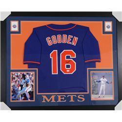 Dwight Gooden Signed New York Mets 35x43 Custom Framed Jersey (JSA Hologram)