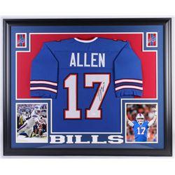 Josh Allen Signed Buffalo Bills 35x43 Custom Framed Jersey (JSA Hologram)