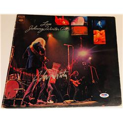 "Johnny WInter Signed ""Live Johnny Winter And"" Vinyl Record Album (PSA COA)"