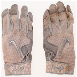 Pair of (2) Dansby Swanson Signed Game-Used Nike Batting Gloves (Radtke COA)