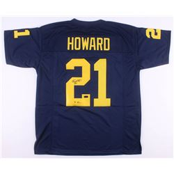 "Desmond Howard Signed Michigan Wolverines Jersey Inscribed ""'91 Heisman"" (Radtke COA)"