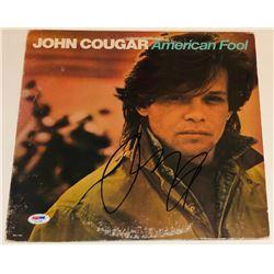 "John Mellencamp Signed John Cougar ""American Fool"" Vinyl Record Album Cover (PSA COA)"