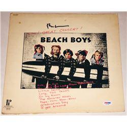 "Brian Wilson Signed ""Beach Boys"" Vinyl Album Cover (PSA LOA)"