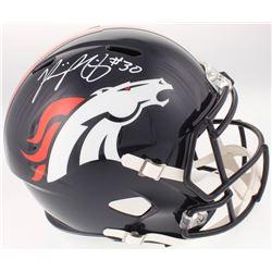Phillip Lindsay Signed Denver Broncos Full-Size Speed Helmet (Radtke COA)