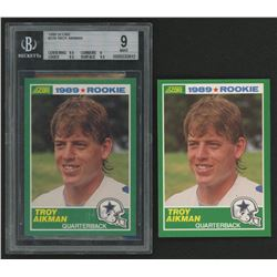 Lot of (2) 1989 Score #270 Troy Aikman RC (BGS 9)
