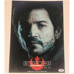 "Diego Luna Signed ""Rogue One: A Star Wars Story"" 11x14 Photo (PSA Hologram)"