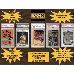 Icon Authentic Graded Card Series 1 Mystery Box (100+ Cards per Box)