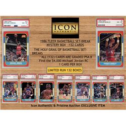 Icon Authentic 1986 Fleer Basketball Set-Break Mystery Box (ALL PSA 8 GRADED) (Look for the Michael